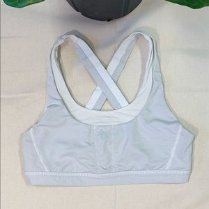 Lululemon Sports Bra Size 10 White Grey